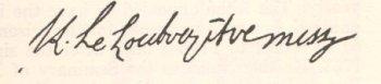 signature de Jean-Louis Le Loutre