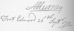Signature d'Alexander Murray
