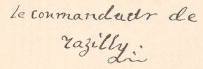 Signature de Isaac de Razilly