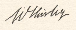signature de William Shirley