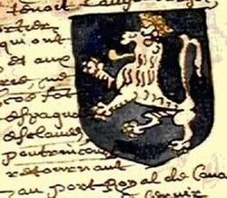 Armes de Jean de Poutrincourt