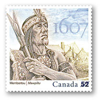 Timbre: Grand Chief Membertou ,Canada Post