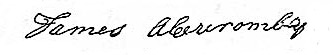 Signature James Abercrombay
