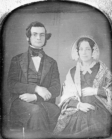 Sir Samuel Leonard Tilley and sa premiere épouse Julia Ann Hanford, circa 1843