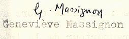 Signature de Geneviève Massignon