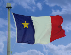 Photo d'un drapeau acadien